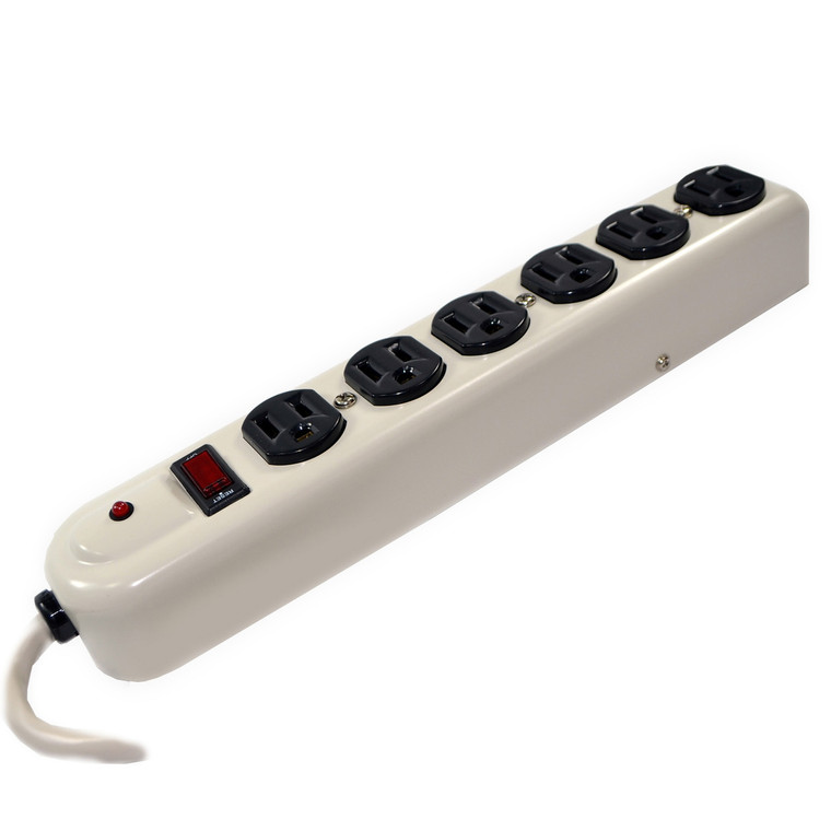 6-Outlet Metal Industrial Heavy Duty Surge Protector (Discontinued)
