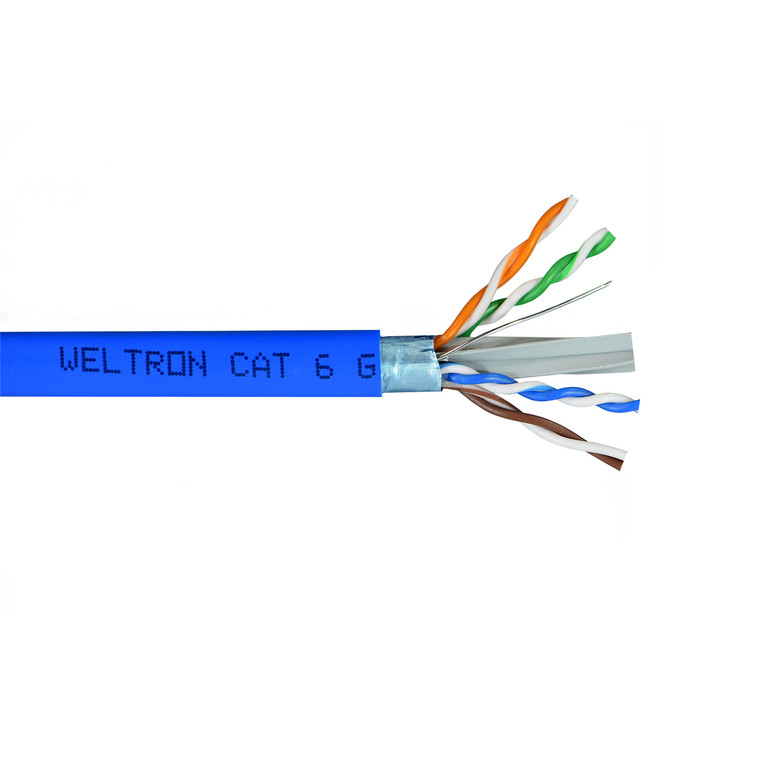 Category 6 Shielded Solid CMR  Cable (1000ft)