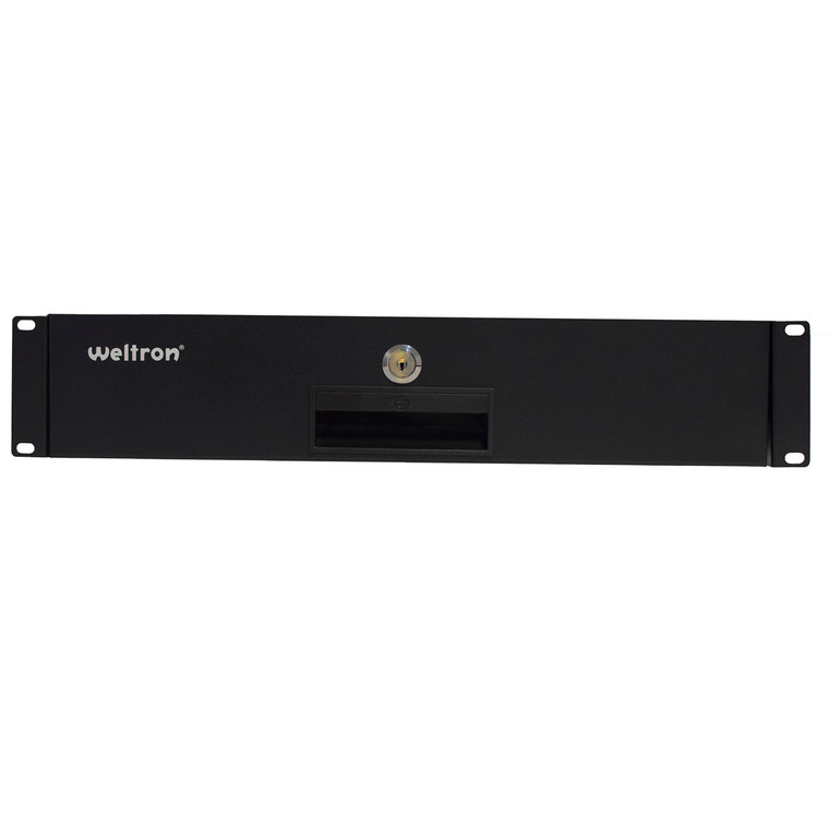 2RU RACK DRAWER, BLACK