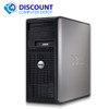 """Fast Dell Optiplex Windows 10 Desktop Computer PC Tower C2D 4GB DVD WiFi 17"""" LCD"""