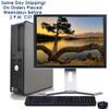 """Fast Dell Optiplex Desktop Computer PC Core 2 Duo 2.13GHz 4GB 250GB DVD Wifi 19"""" LCD Windows 10"""