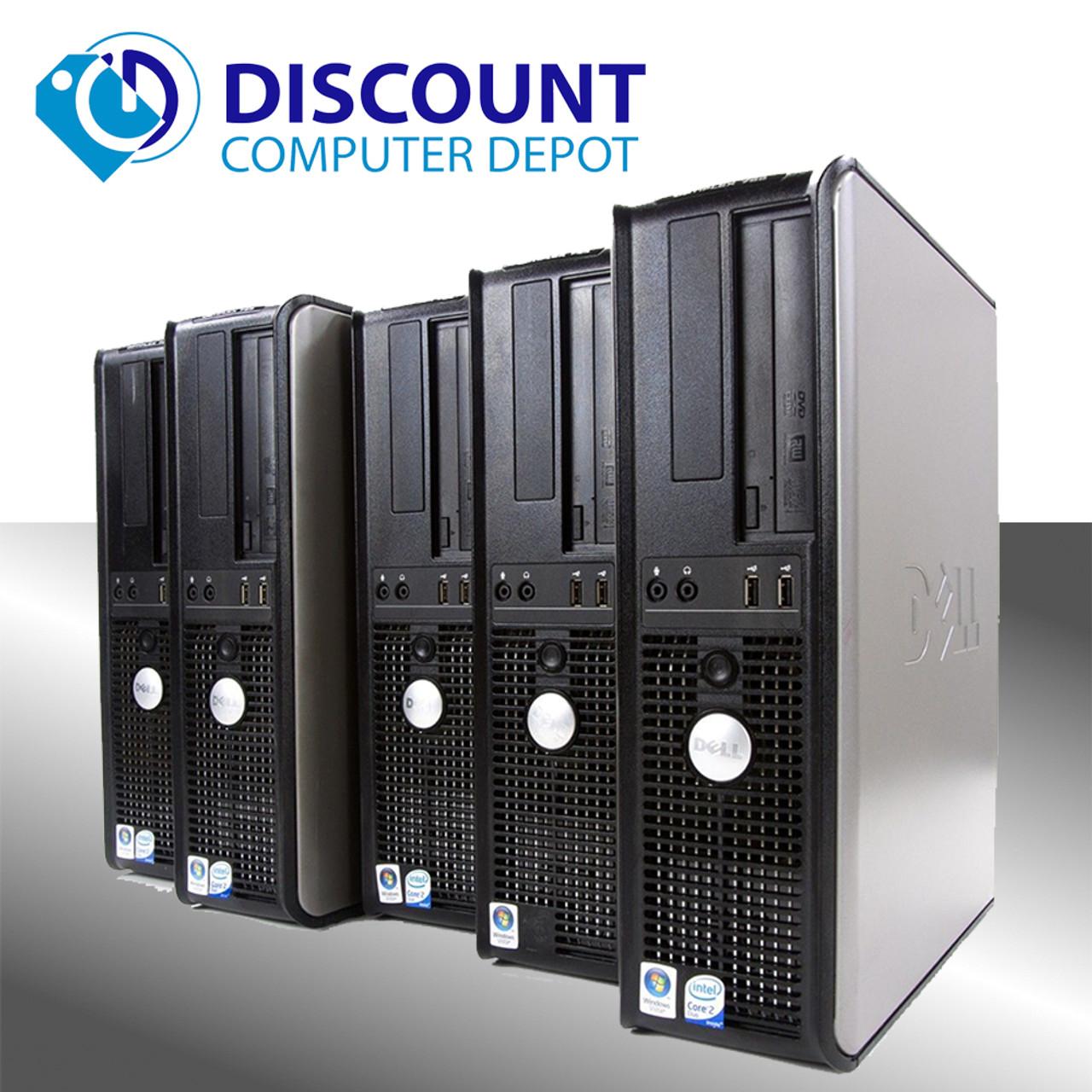 Lot of 5 Dell Optiplex 760 Desktop Computer 3GHz Core 2 Duo 4GB 160GB Win  10 Pro