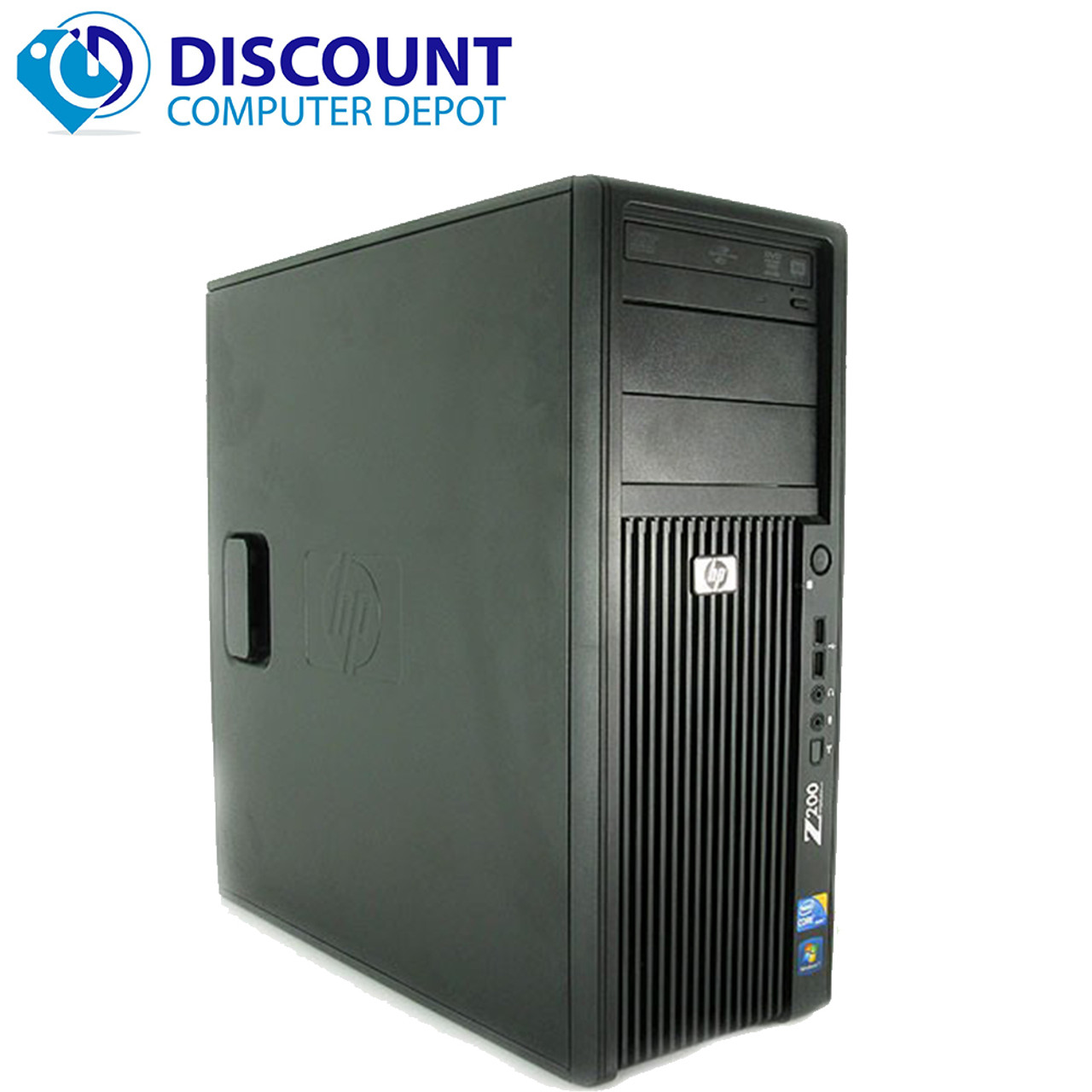 HP Z400 Windows 10 Pro Workstation Computer PC Tower Intel Xeon Processor  8GB 500GB Dual Video Graphics and WIFI