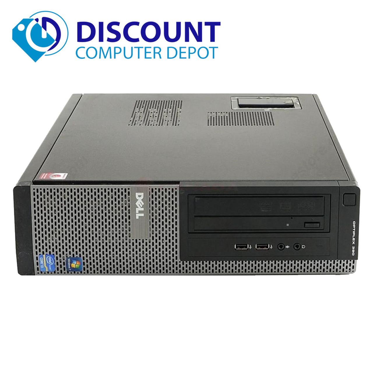 Dell Optiplex 390 Desktop Computer Pc Intel I3 3 3ghz 4gb 160gb Windows 10 Pro With Dual 2x19