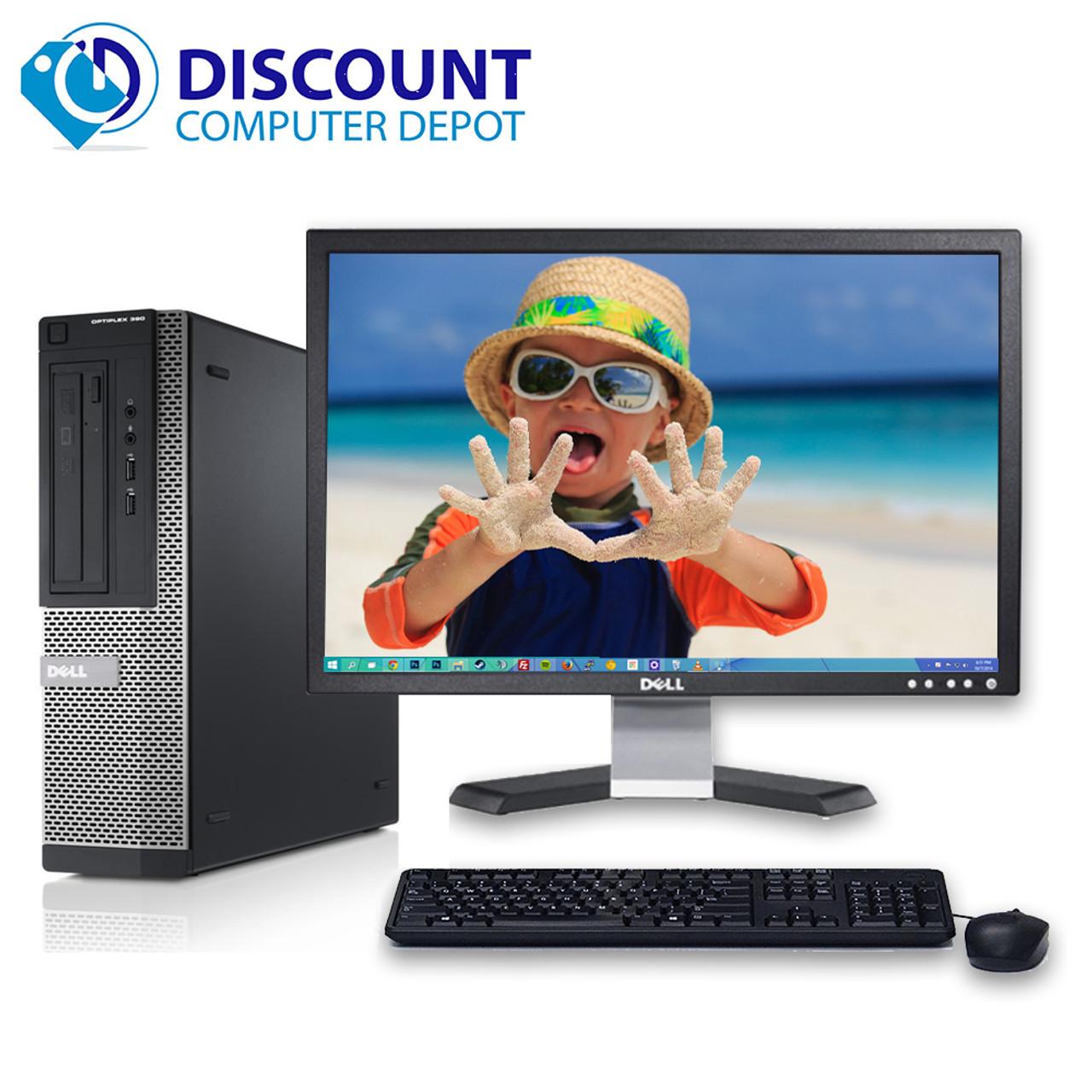 Dell Optiplex 390 Windows 10 Desktop Computer i3 3 1GHz 4GB 250GB HDMI 22