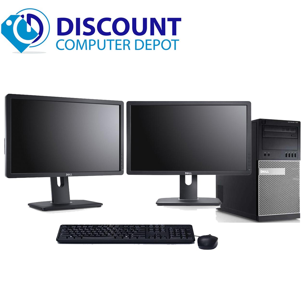 Dell Optiplex 3020 Windows 10 Pro desktop PC Quad i5 4GB 250GB w/dual LCD's  (1x17