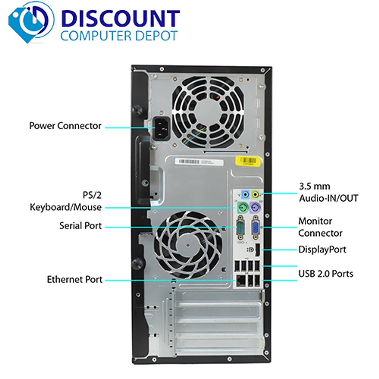 Fast Core i7 HP Windows 10 Pro Quad Core Desktop Computer 3 4GHz 8GB 320GB  and WIFI