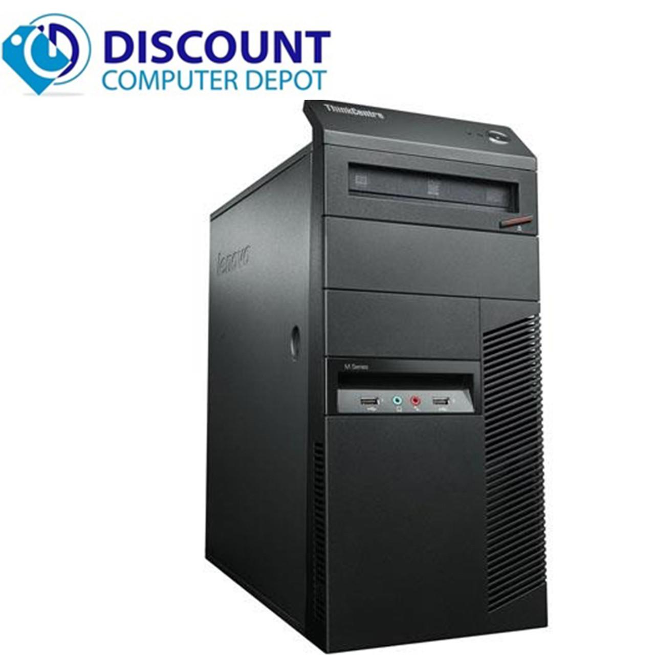 Fast Lenovo Windows 10 Desktop Computer Core i5 Tower 3 2GHz PC 4GB 320GB  Wifi