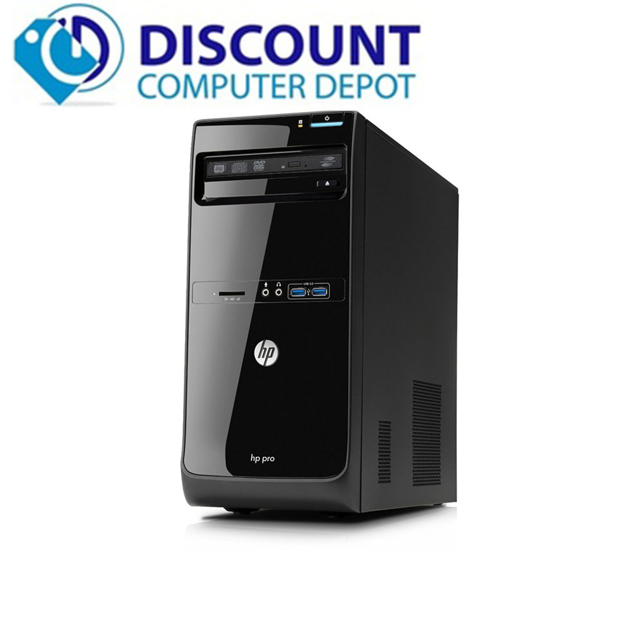 HP Pro Desktop Computer Core i5-3470 4GB 250GB DVD Windows 10 Wifi