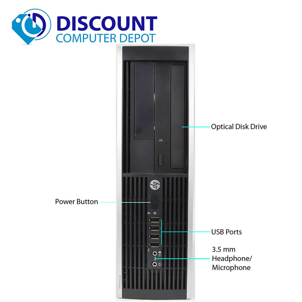 HP Pro Desktop Computer Tower PC 2 8GHz 4GB 160GB 17