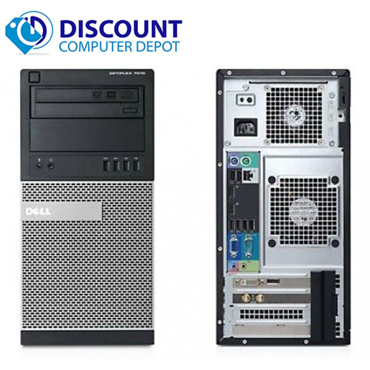 Dell Optiplex 990 Computer Tower Intel i5 3 3GHz 4GB 250GB Windows 10 Home  WiFi