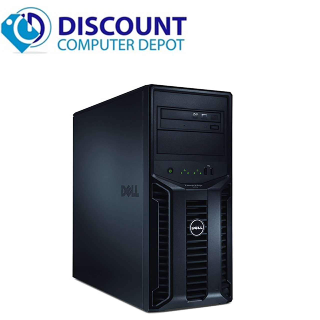 Dell Poweredge T110 Computer Server Tower PC 8GB 1TB Core i3 Windows 10 Pro  with Keyboard & Mouse and WIFI