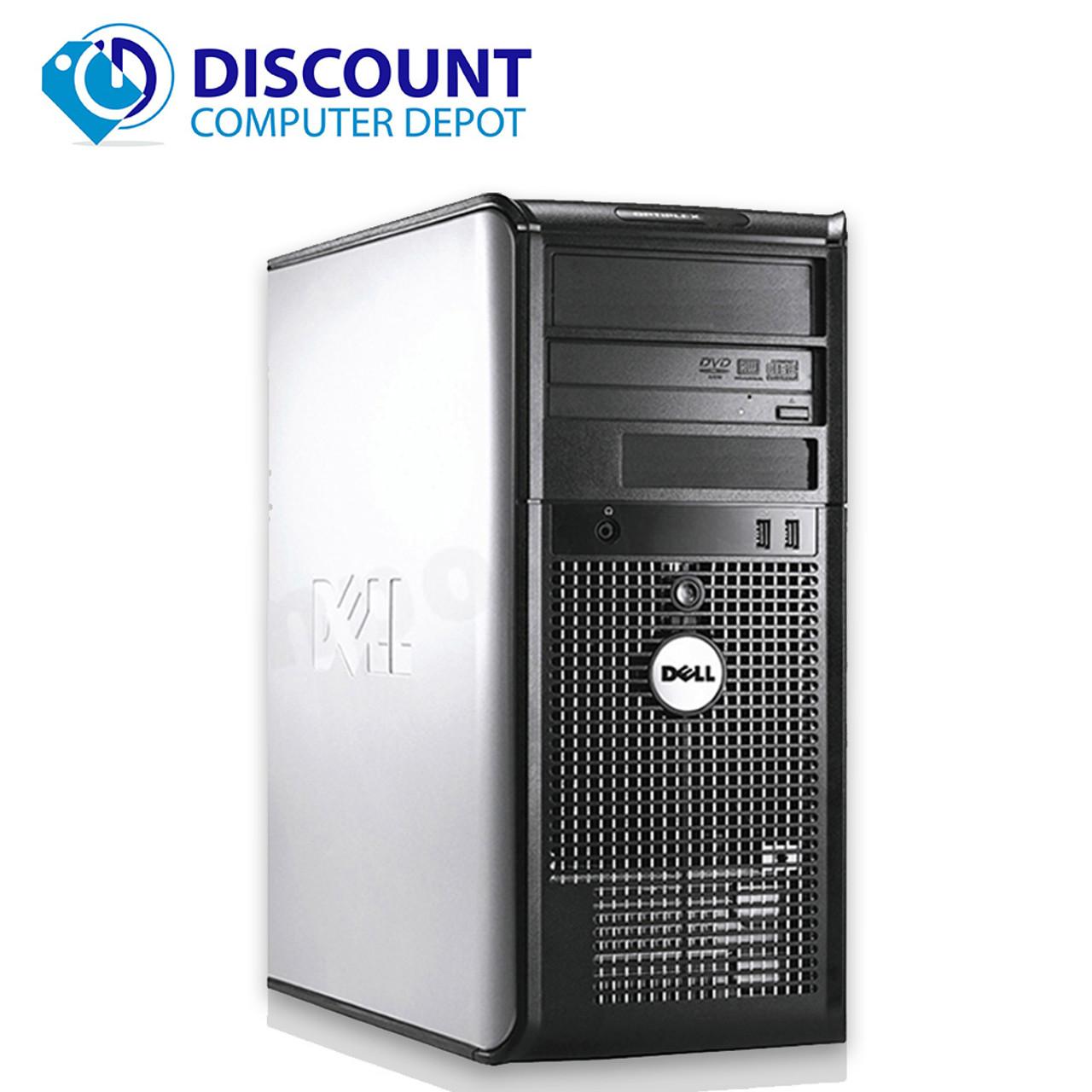 FAST Dell Optiplex 745 Windows 10 Desktop Computer Tower Core 2 Duo 4GB  160GB DVD WiFi 17