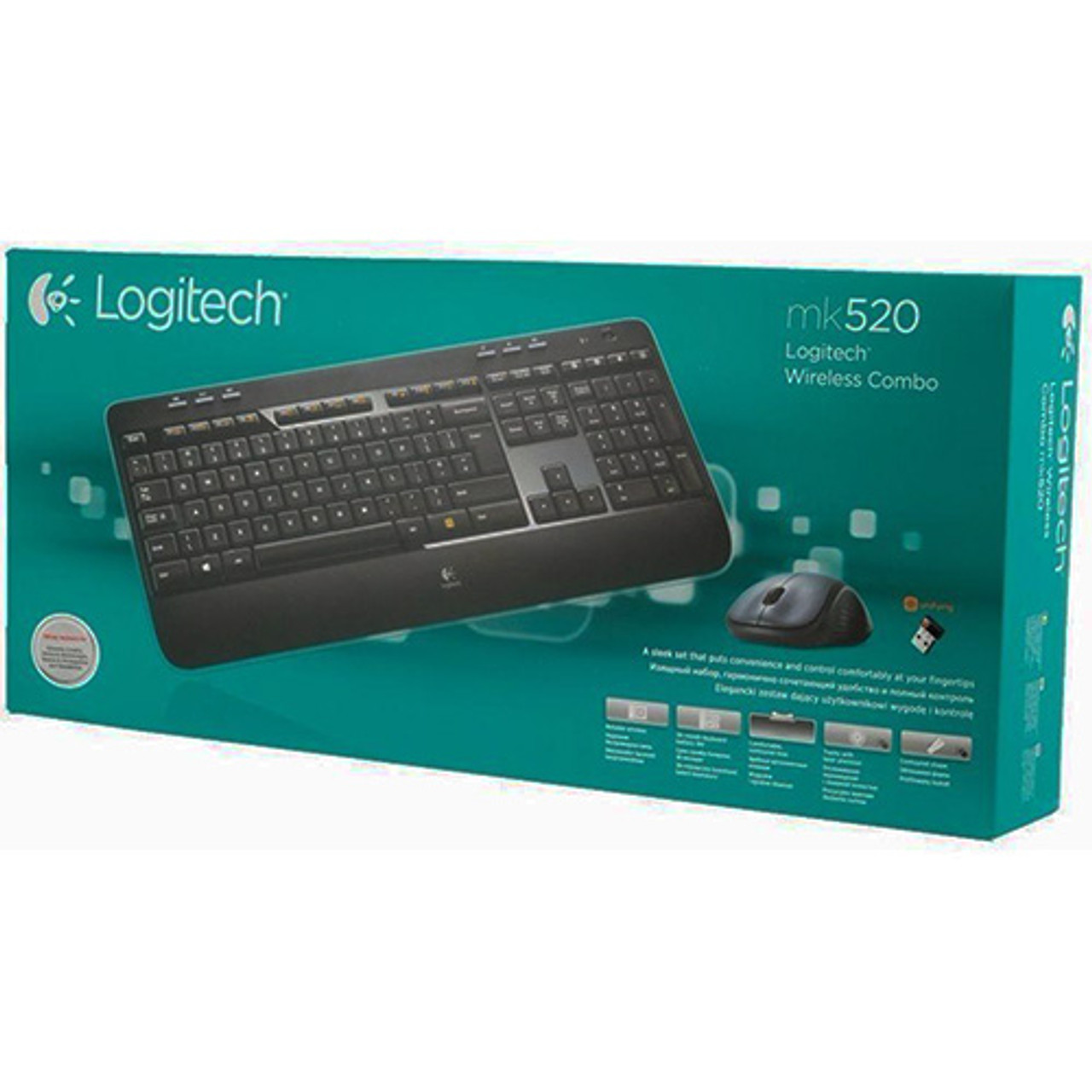 023d8b96688 Logitech MK520 Wireless Keyboard and Mouse Combo — Keyboard and Mouse, Long  Battery Life, Secure 2.4GHz ...