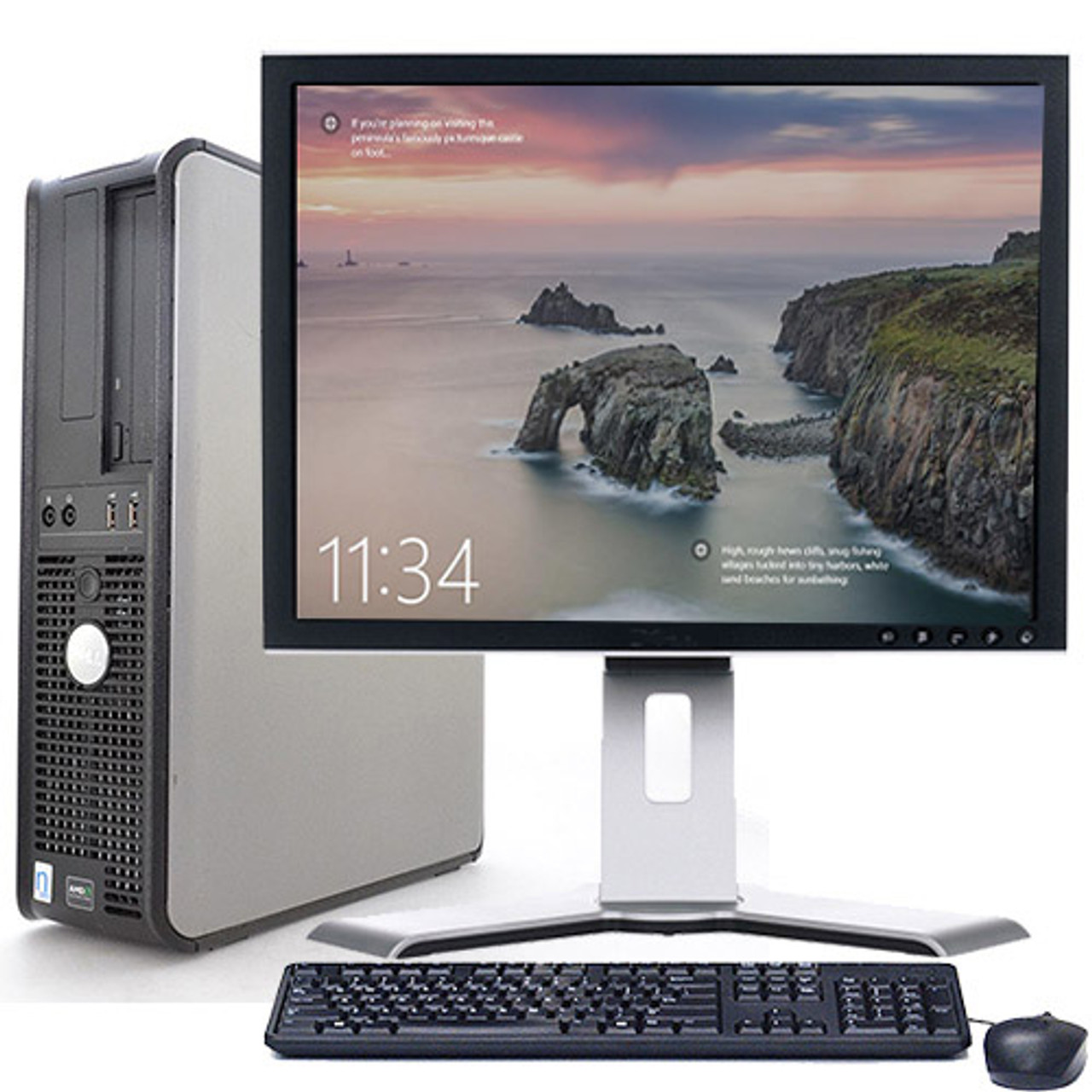 Lot of 5 Dell Optiplex Desktop Computer Windows 10 C2D 3 0ghz 4gb 120GB SSD  19
