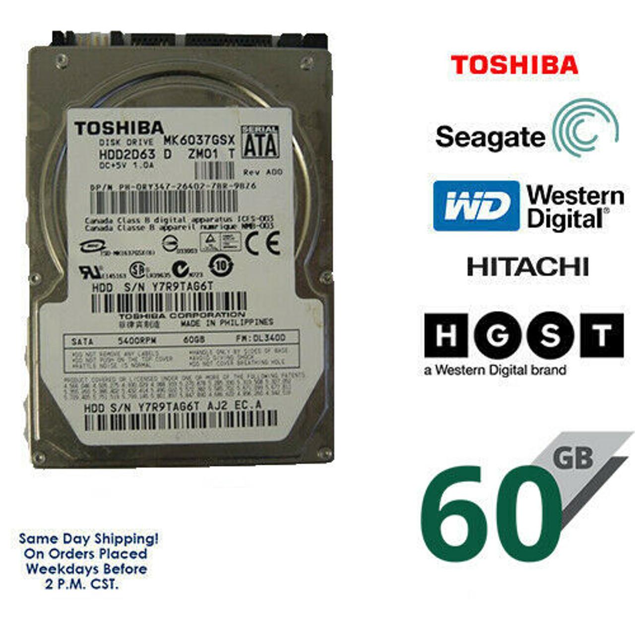 "320GB 2.5/"" HDD Laptop Hard Drive MAJOR BRAND Internal SATA WD Seagate Hitachi"