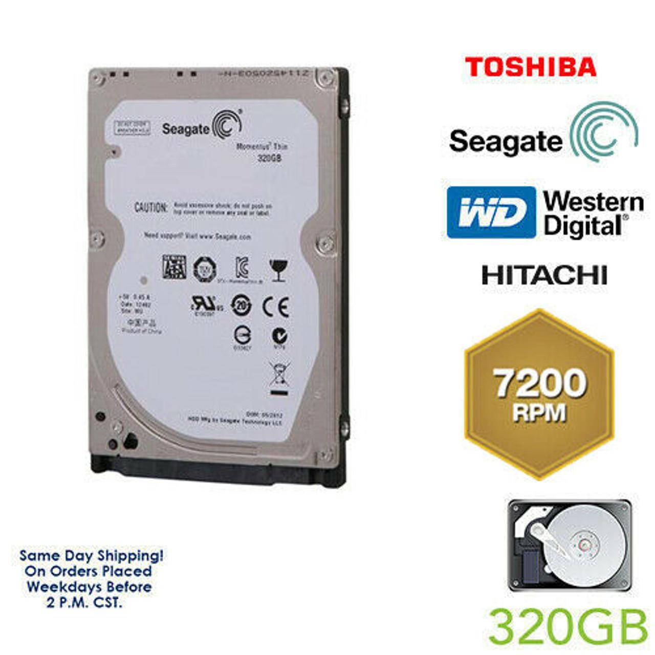 "80GB 2.5/"" HDD Laptop Hard Drive MAJOR BRAND WD Seagate Hitachi  Internal SATA"