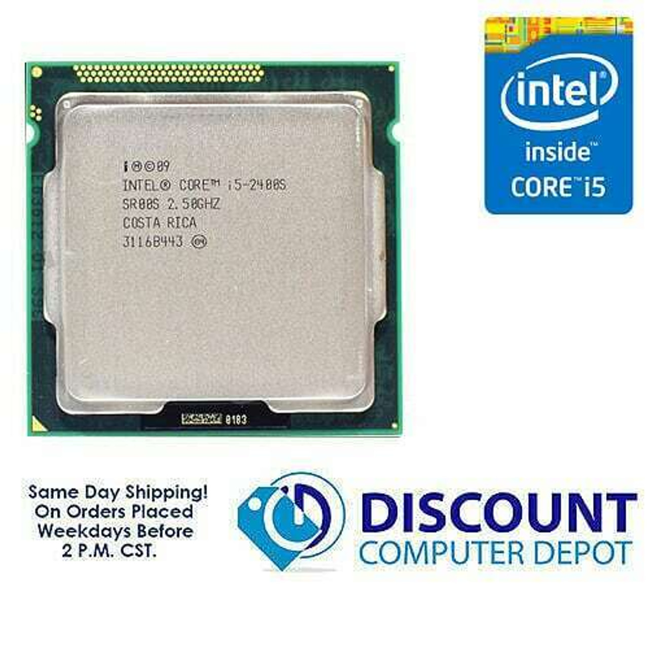 Intel Core i5-2400 SR00Q 3.10 GHz 6MB SmartCache LGA1155 Quad-Core Processor B4