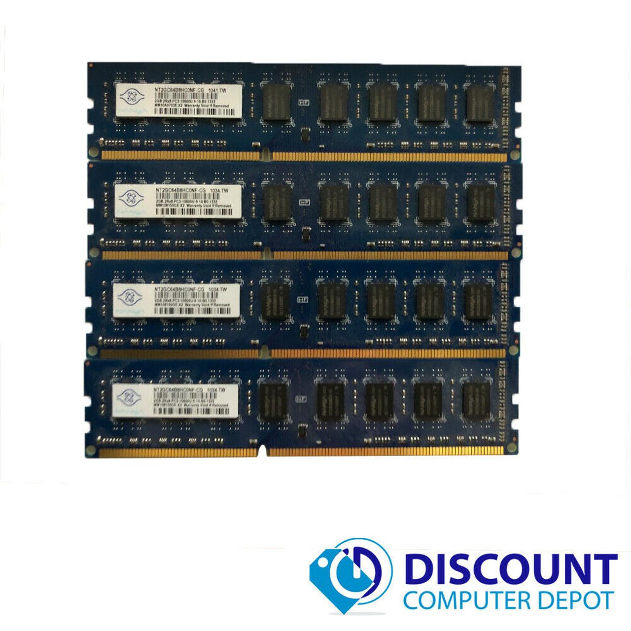 16GB 2x 8GB PC3-10600U DDR3 1333MHz 240pin 1.5V DIMM RAM Desktop Memory