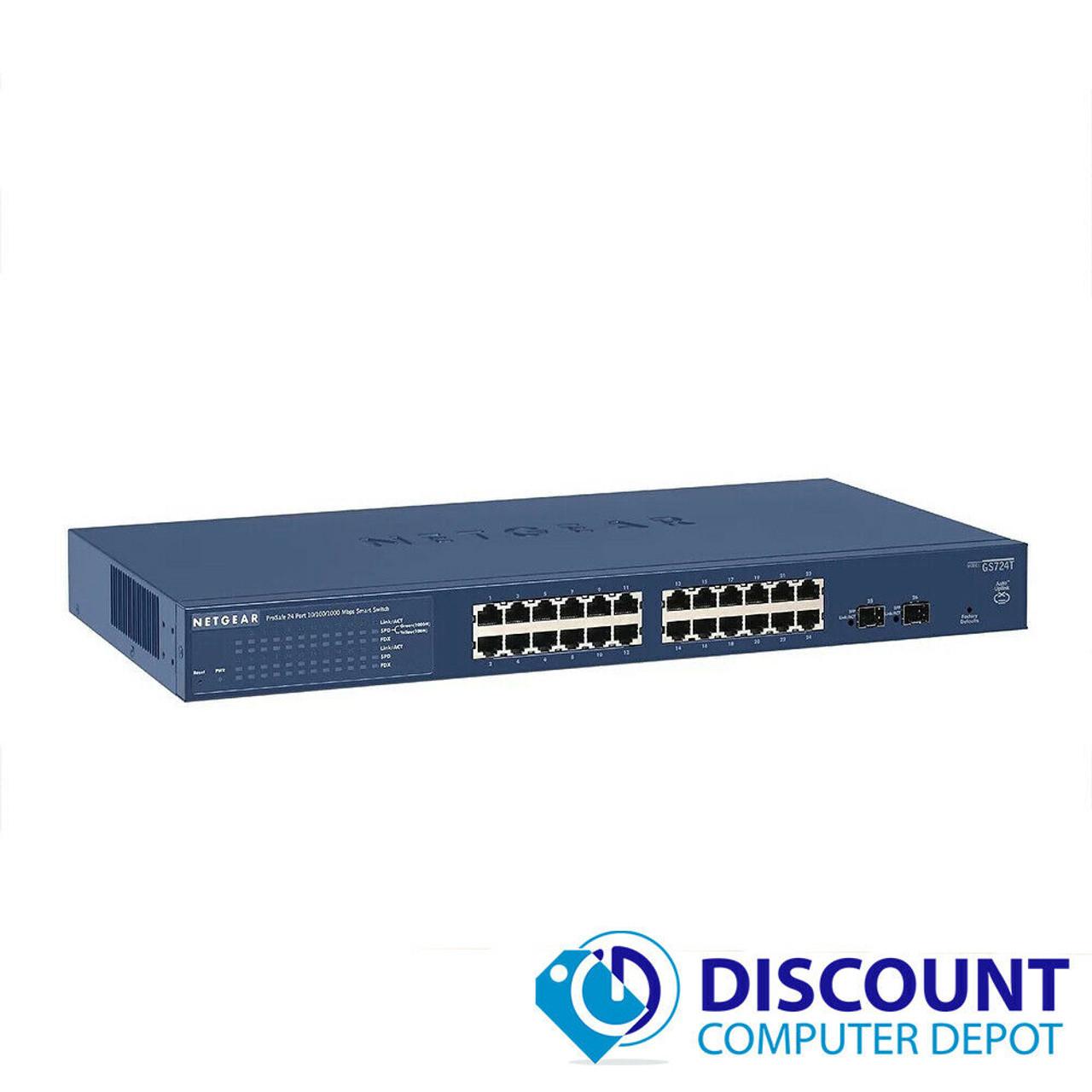 GS724T NETGEAR ProSAFE 24-Port Gigabit Smart Switch Networking ...