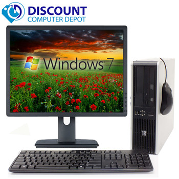 HP 8000 Elite Desktop Computer Windows 10 3.0GHz Core 2 Duo 4GB 1TB 19 LCD WiFi