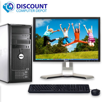 """Fast 3.00GHz Dell Optiplex Desktop Computer Windows 10 PC 4GB 160GB 17"""" LCD Wifi"""