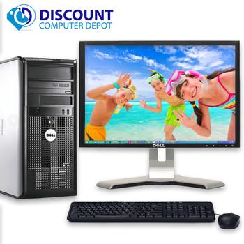"""Dell Optiplex Windows 10 Desktop Computer PC Core2Duo 4GB 250GB DVDRW 17"""" LCD"""
