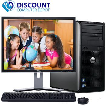 """Dell Windows 10 Optiplex Tower Computer PC Core 2 Duo 4GB 1TB DVD 17"""" LCD"""