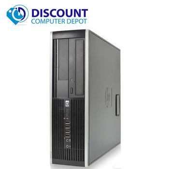"""HP 8000 Desktop Computer PC Intel C2D 3.0GHz 8GB 80GB SSD 19"""" LCD Win10 Pro"""