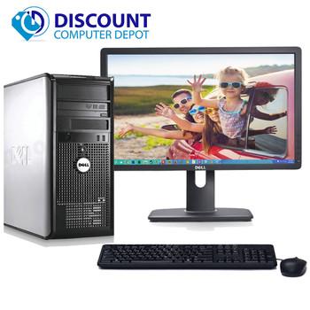 """Dell Windows 10 Optiplex Tower Computer PC Core 2 Duo 4GB 1TB DVDRW 22"""" LCD"""