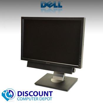 """Dell 19"""" LCD Monitors Widescreen Ultrasharp 1909W(Lot of 2) With (1) Dell Soundbar"""