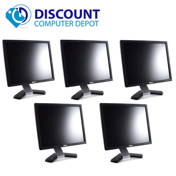 Dell 19 Inch Ultrasharp 1909W Widescreen LCD Monitor with VGA and Power Cables (Lot of 5 LCD Monitors)
