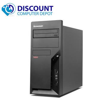 "Lenovo Windows 10 Desktop Computer Tower PC Core 2 Duo 2.13GHz 4GB w/17"" LCD"