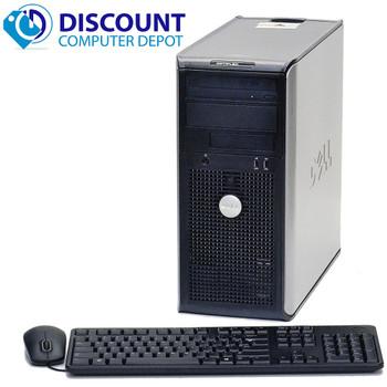 Dell Optiplex Tower Computer Windows 10 Dual Core Desktop 4GB 80GB DVD WiFi