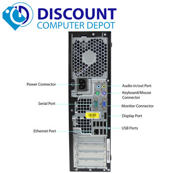 HP 6300 Desktop Computer I3 3.3GHz 8GB 500GB Windows 10 Pro Dual Monitor Ready!