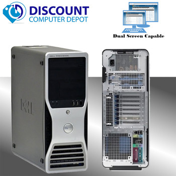 Dell Precision T5500 Workstation Computer Windows 10 Pro Xeon Quad Core 8GB 500GB HDMI