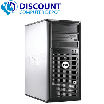 Fast Dell Optiplex Desktop Computer Tower PC C2D 2.13GHz 4GB Windows 10 Pro