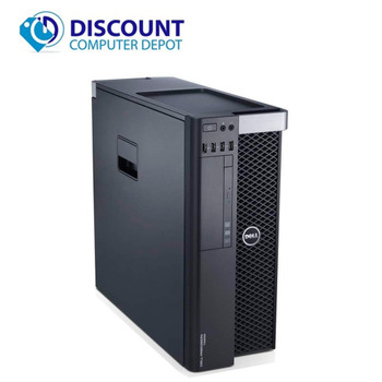 Dell Precision T5600 Windows 10 Pro Workstation Computer Xeon E52609 Quad Core16GB 1TB Dual Monitor Ready