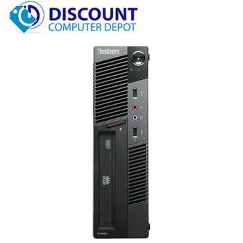 "Lenovo M91P USFF Desktop Computer Intel i5 PC 2.5GHz 4GB 250GB Win10 Pro 19"" LCD"