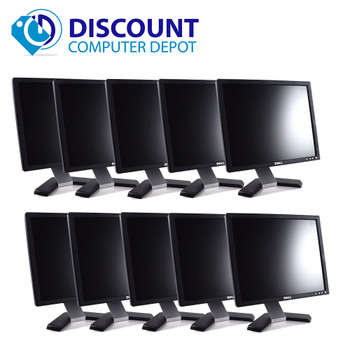 """Dell UltraSharp 1707-1708 17"""" PC LCD Monitor (Grade-B Lot of 10) with VGA Cables (Lot of 10)"""