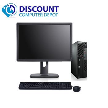 "Lenovo M91P USFF Desktop Computer Intel i5 PC 2.5GHz 8GB 250GB Win10 Pro 19"" LCD"