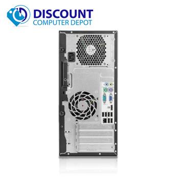 "HP 6000 Pro Desktop Computer Tower C2D 3.0GHz 4GB 250GB Win-10 w Dual 19"" mon"