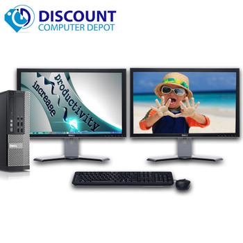 """Dell Optiplex 990 Windows 10 Pro Desktop PC i5 3.3 8GB 500GB w/dual 19"""" LCD's"""