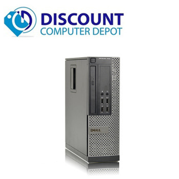 """Dell Optiplex 7010 Windows 10 Home Desktop Computer PC i3 3.3GHz 8GB 1TB with Dual 22"""" LCD's"""