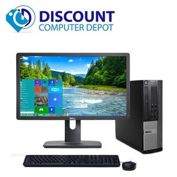 "Quad-Core Dell Optiplex 790 Desktop Computer PC Intel i7 3.4GHz 8GB 500GB Windows 10 Professional with 19"" LCD"