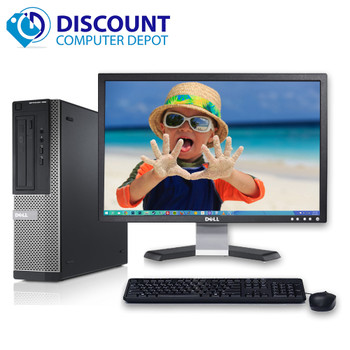 "Dell Optiplex 390 Windows 10 Desktop Computer i3 3.1GHz 4GB 250GB HDMI 22"" LCD"