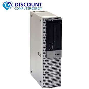 """Fast Dell Optiplex Windows 10 Desktop Computer C2D 3GHz 4GB 19"""" LCD Wifi DVD-RW"""