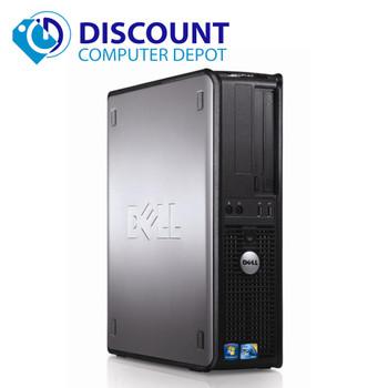 "Fast Dell Optiplex Windows 10 Desktop Computer PC Tower Dual Core 4GB DVD WiFi 17"" LCD"