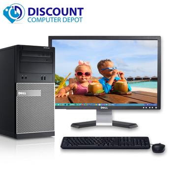 """Dell Optiplex Desktop PC Tower Quad i5 Windows 10 3.1GHz 4GB 320GB 19"""" LCD Wifi"""