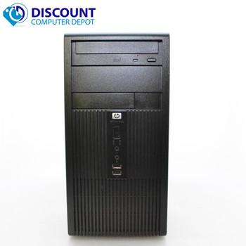 Fast HP Windows 10 Tower Desktop Computer PC Core 2Duo 4GB 160GB DVD WiFi 17 LCD